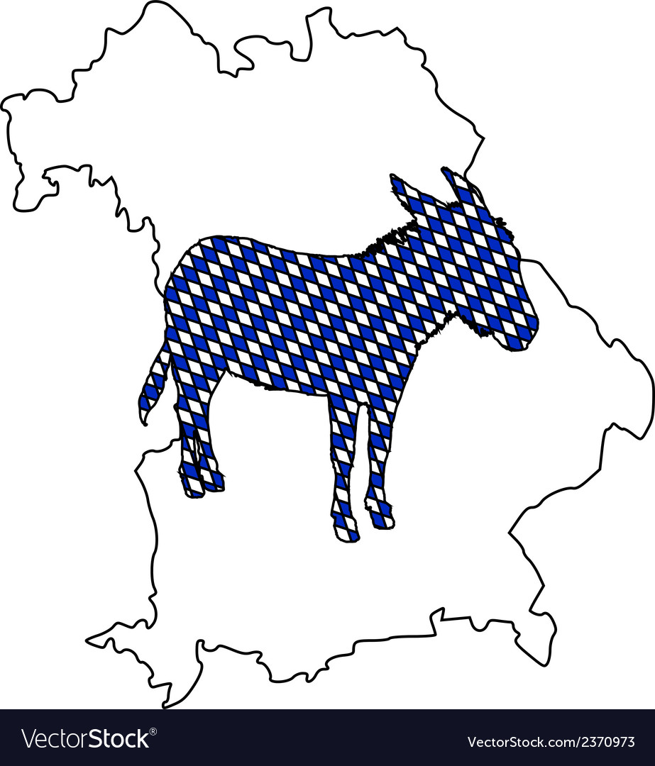 Bavarian donkey vector | Price: 1 Credit (USD $1)