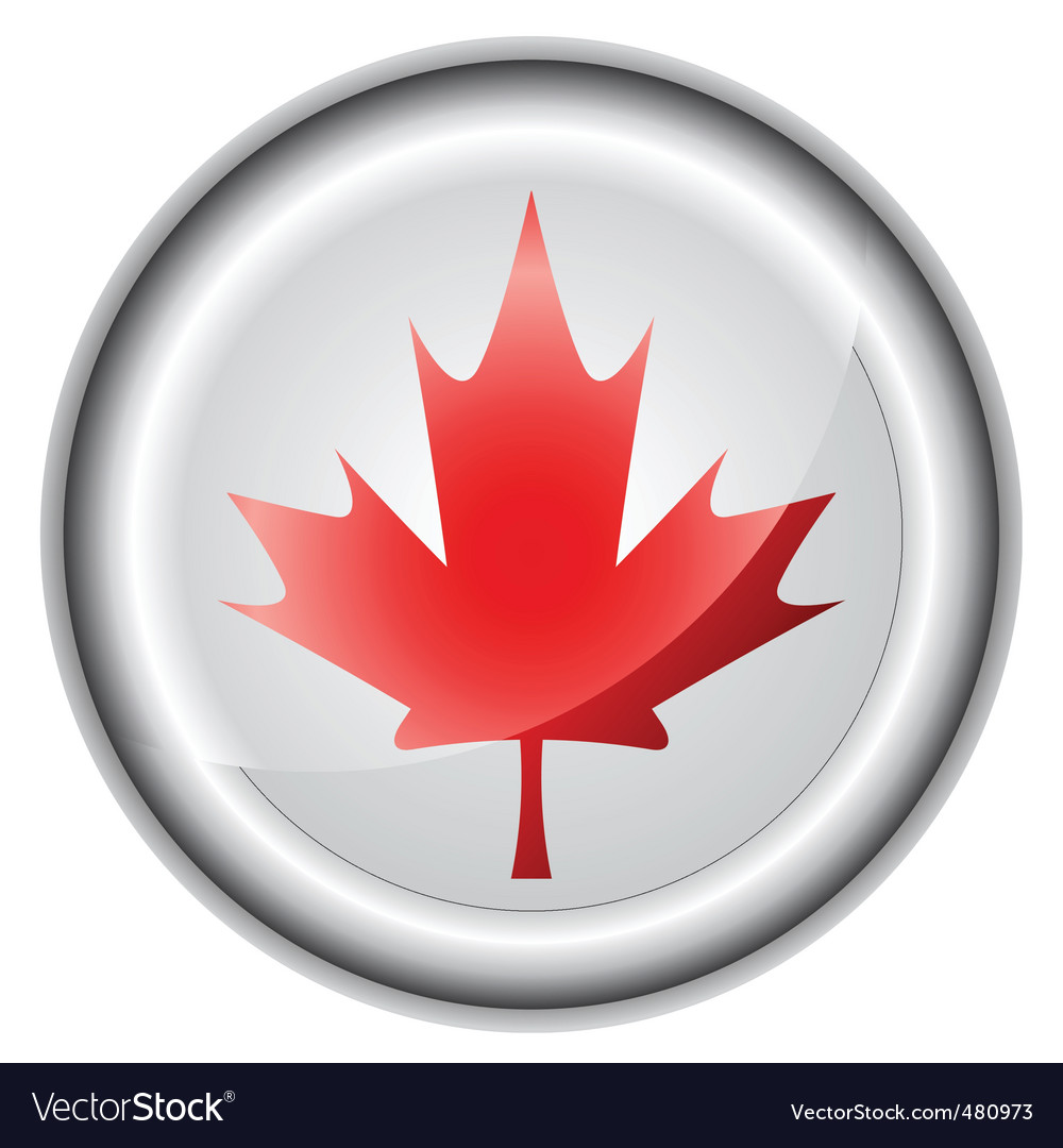 Canada flag button vector | Price: 1 Credit (USD $1)