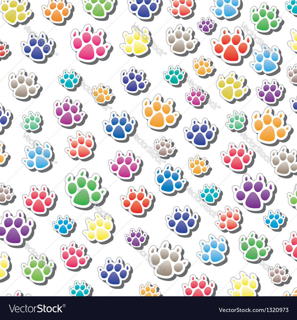 Dogs foot prints vector | Price: 1 Credit (USD $1)