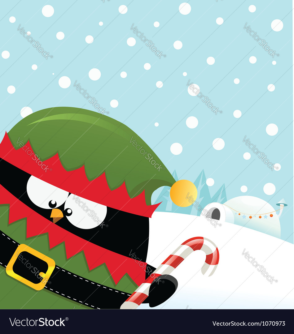Elf penguin vector | Price: 3 Credit (USD $3)