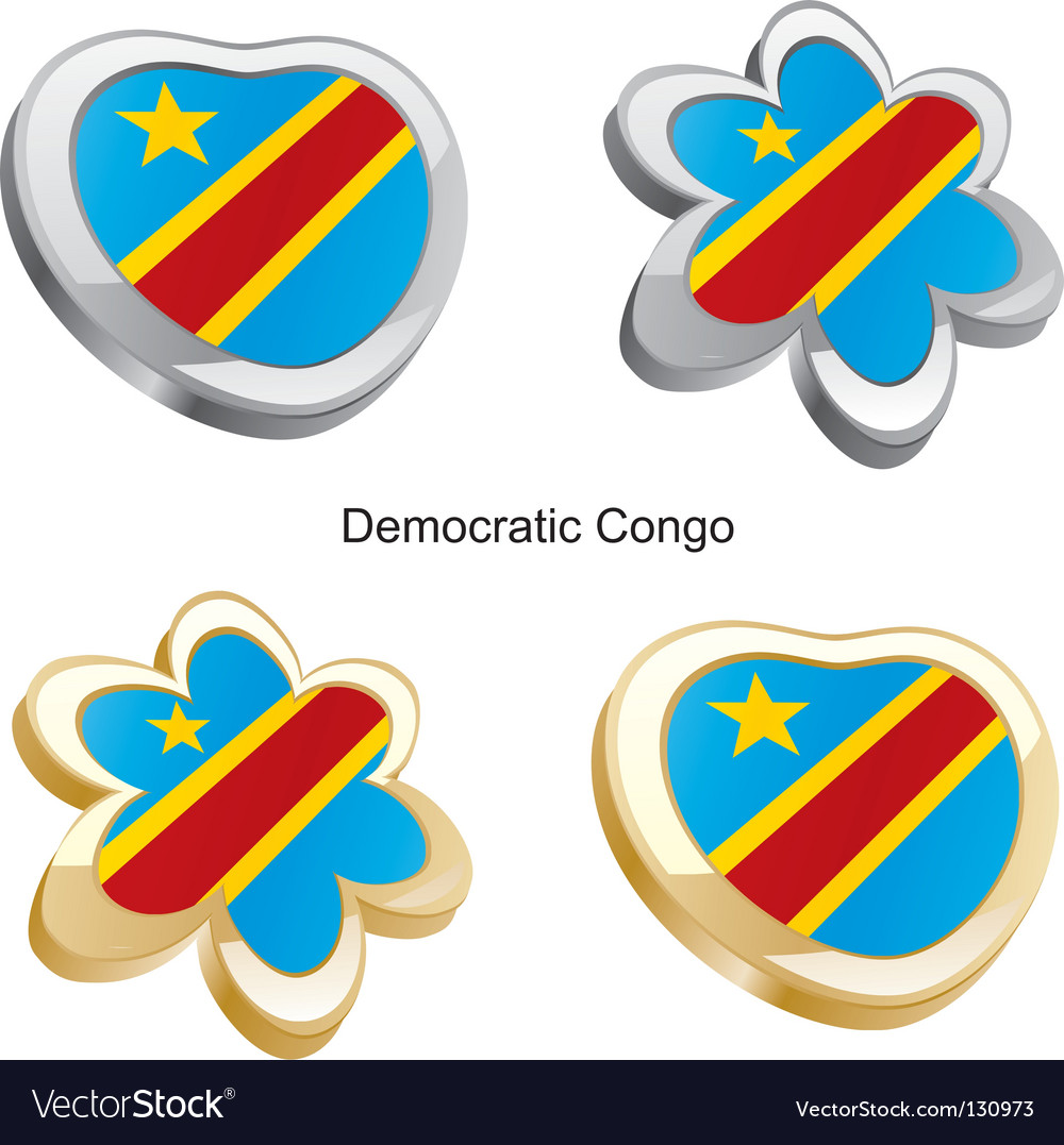 Flag of democratic congo vector | Price: 1 Credit (USD $1)