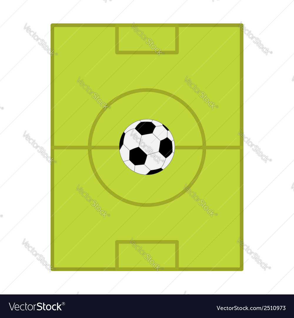 Football soccer ball field scheme with gates flat vector | Price: 1 Credit (USD $1)