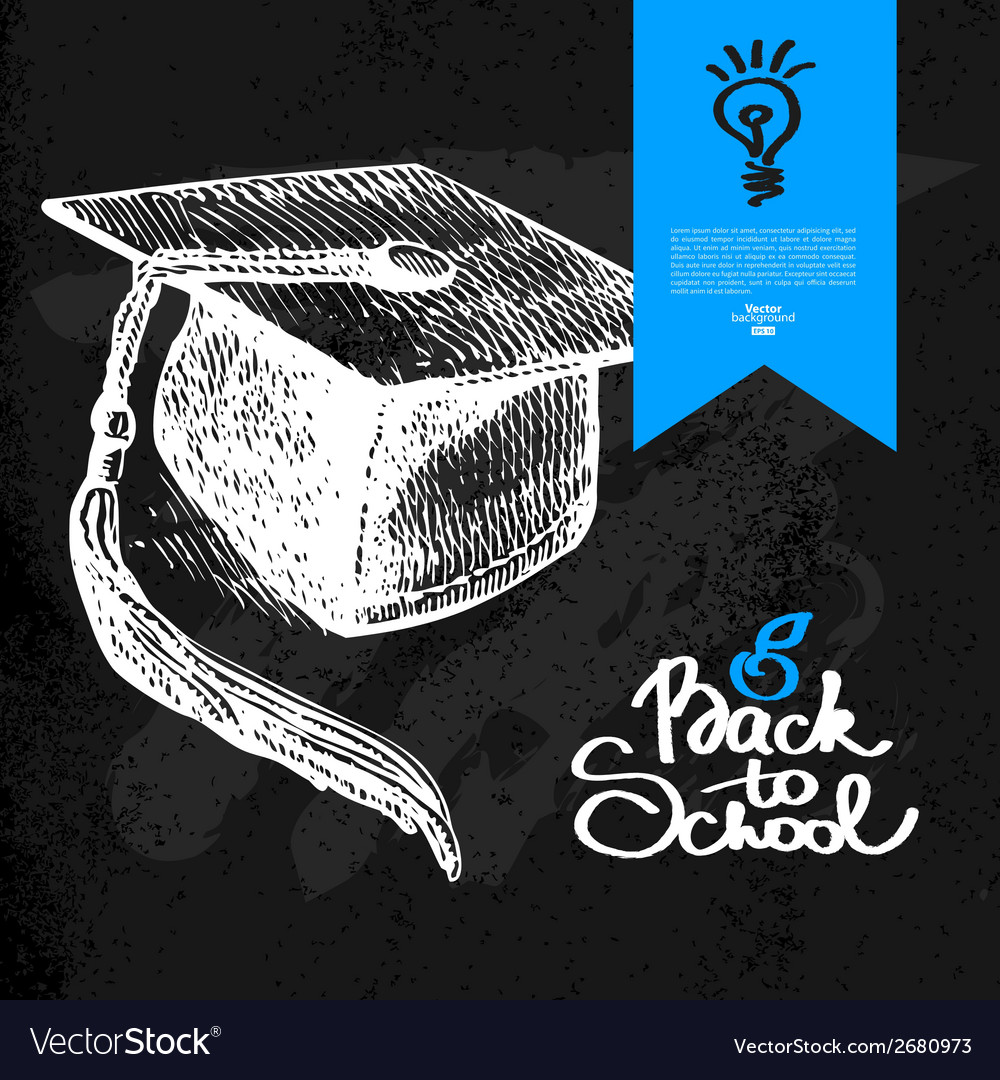 Hand drawn back to school background vector | Price: 1 Credit (USD $1)