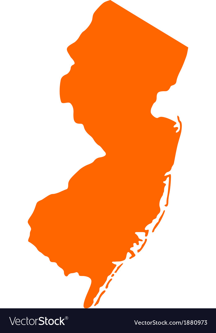 Map of new jersey vector | Price: 1 Credit (USD $1)