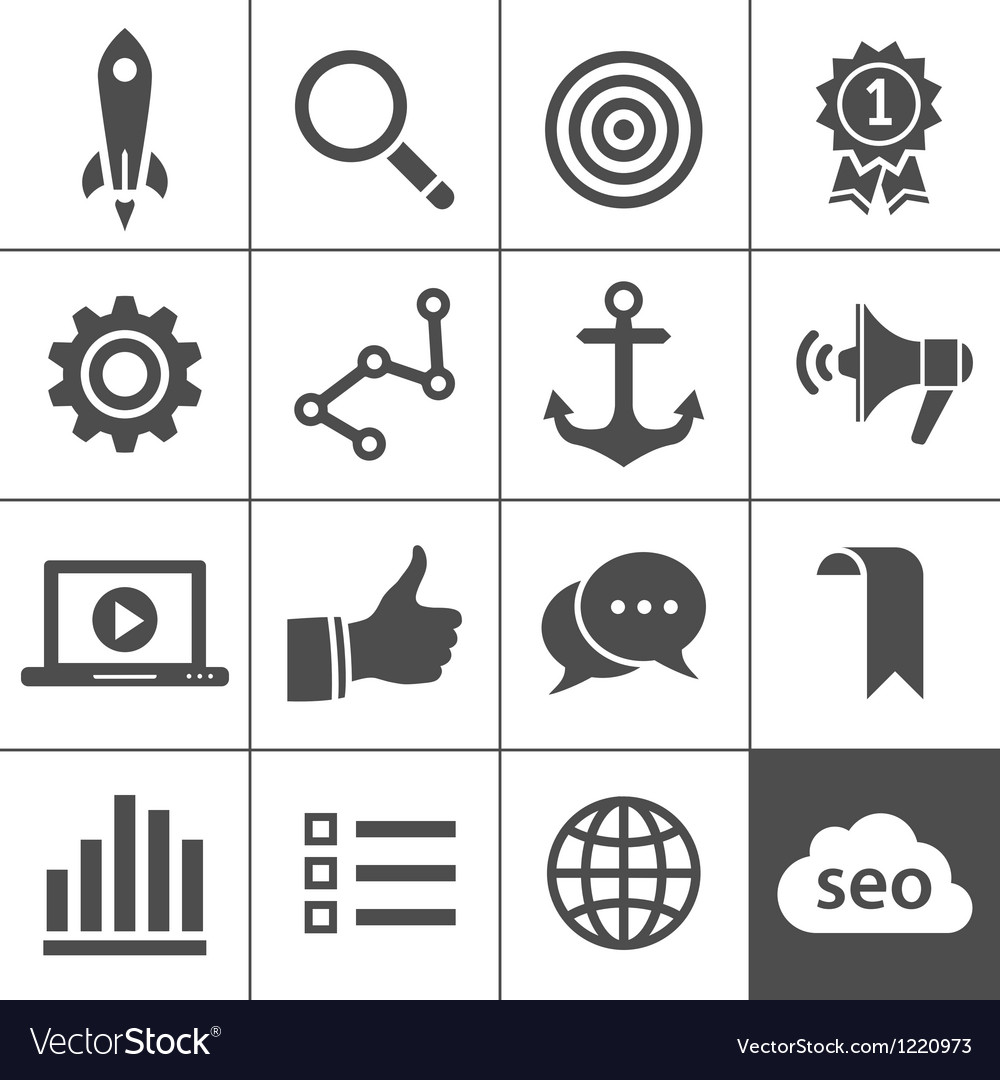 Search engine optimization icon set vector | Price: 1 Credit (USD $1)