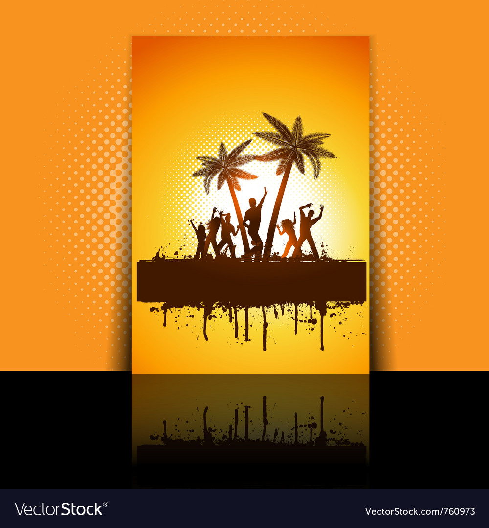Summer party flyer vector | Price: 1 Credit (USD $1)