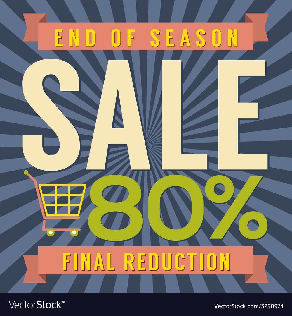 80 percent end of season sale vector | Price: 1 Credit (USD $1)