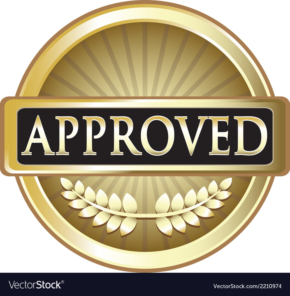 Approved pure gold award vector | Price: 1 Credit (USD $1)