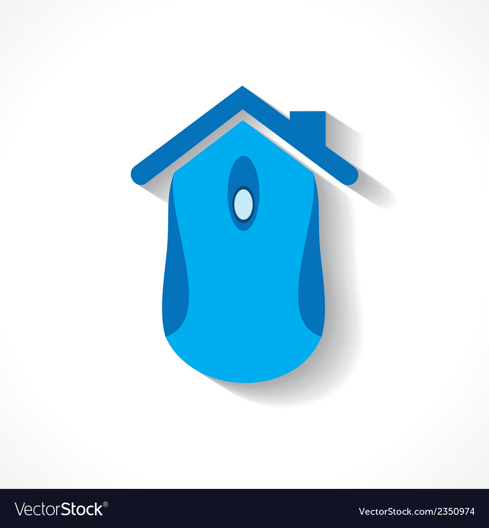 Computer mouse make a home icon vector | Price: 1 Credit (USD $1)