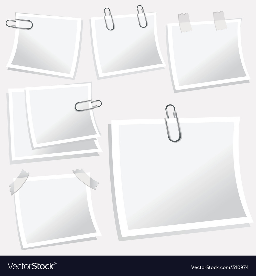 Notepaper illustration vector | Price: 1 Credit (USD $1)
