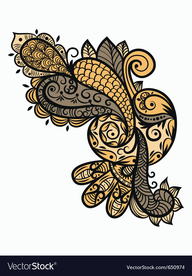 Paisley design element vector | Price: 1 Credit (USD $1)