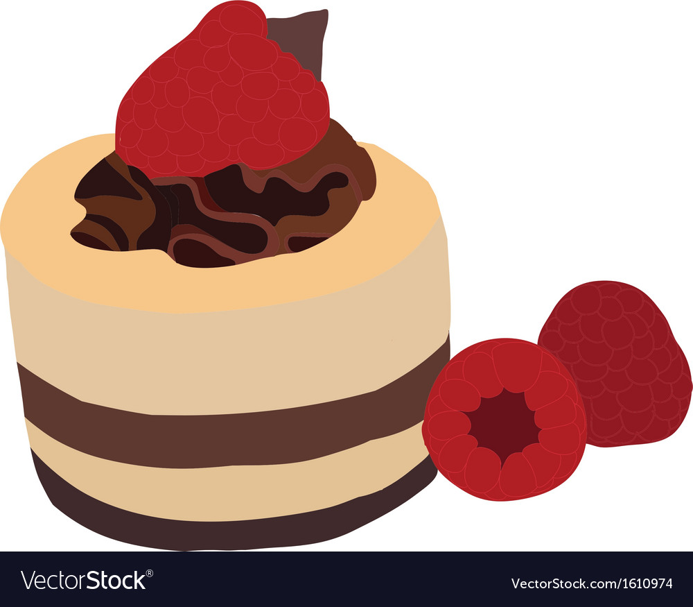 Raspberry mousse cake vector | Price: 1 Credit (USD $1)