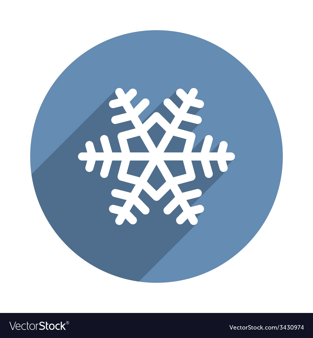 Snowflake icon in flat design style vector | Price: 1 Credit (USD $1)