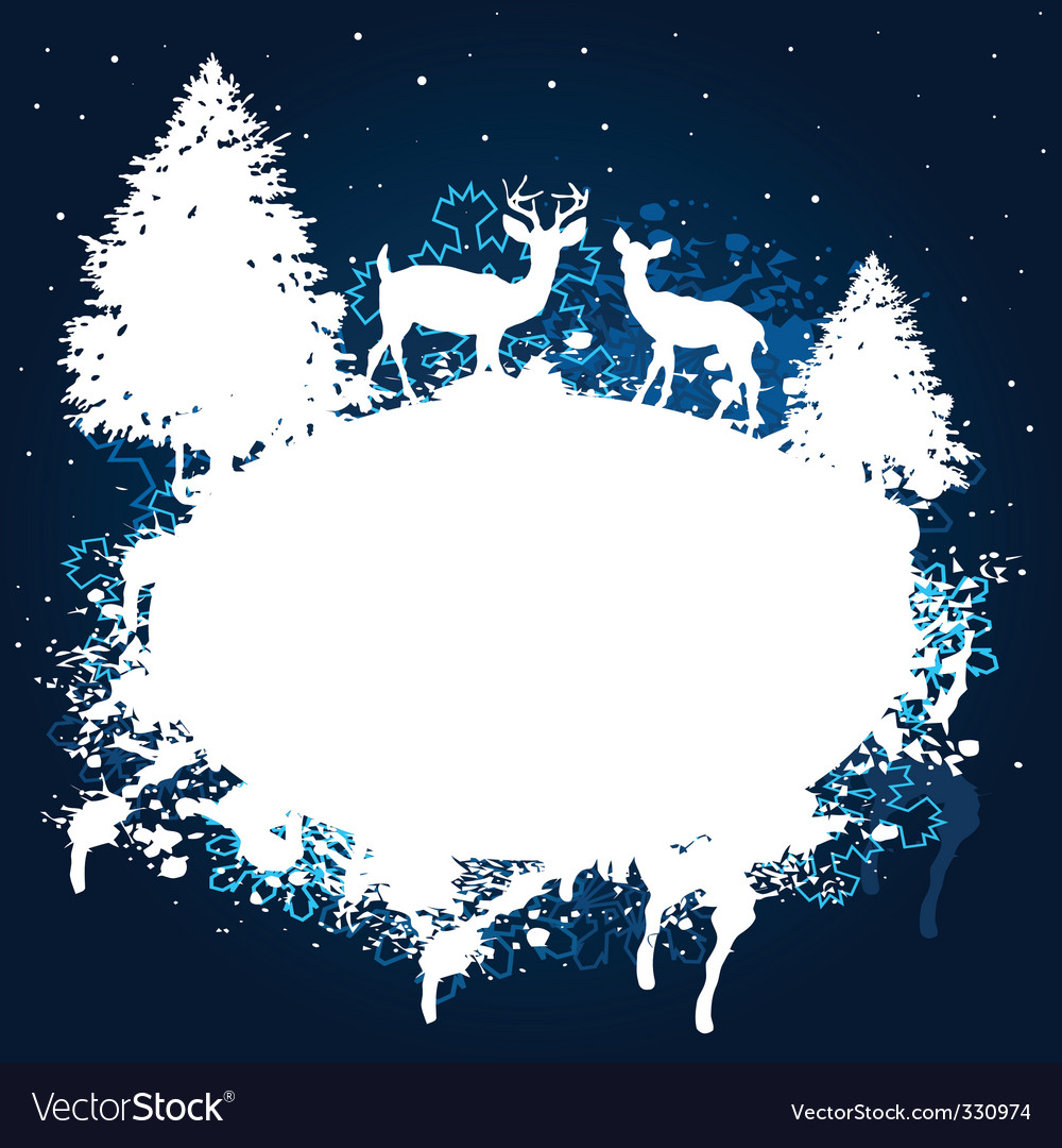 Winter forest grunge paint design vector | Price: 1 Credit (USD $1)