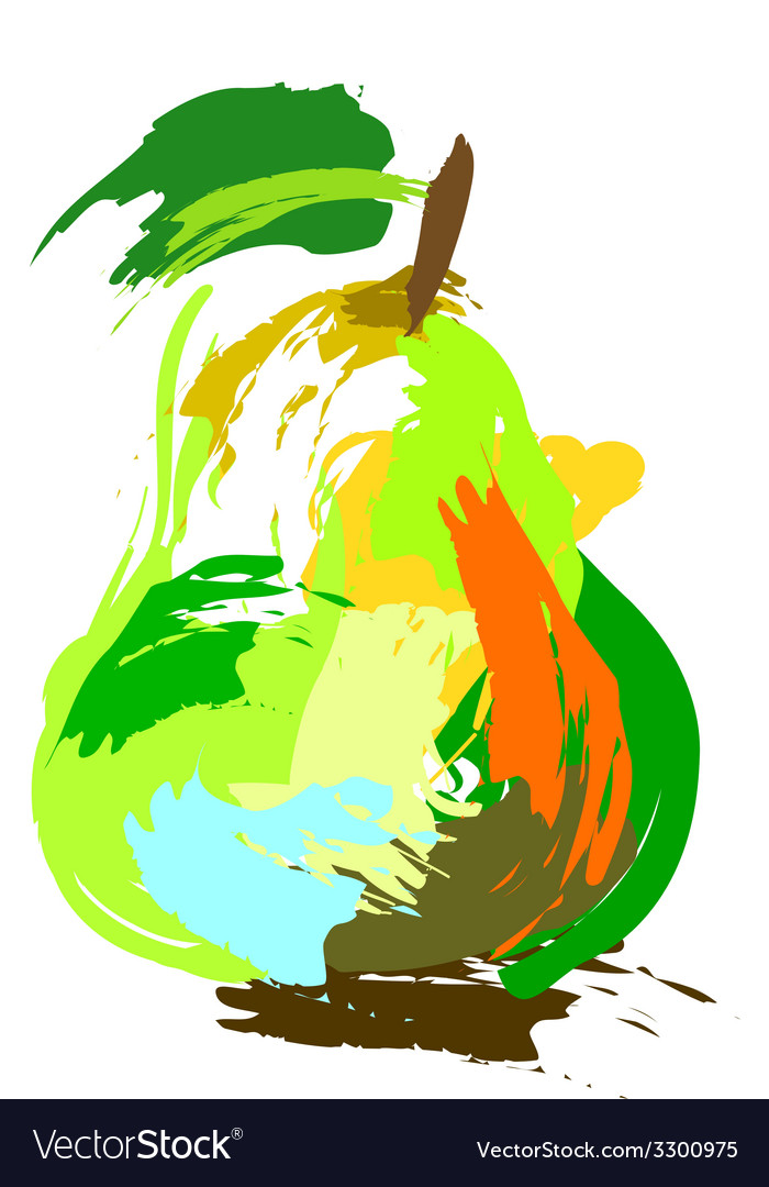 Drawing pear vector | Price: 1 Credit (USD $1)