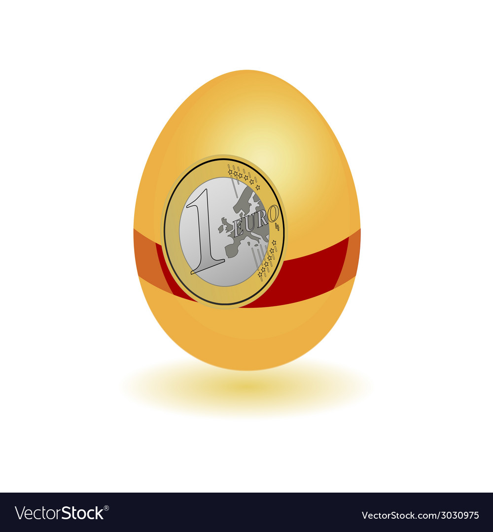 Egg with a sticker euro vector | Price: 1 Credit (USD $1)