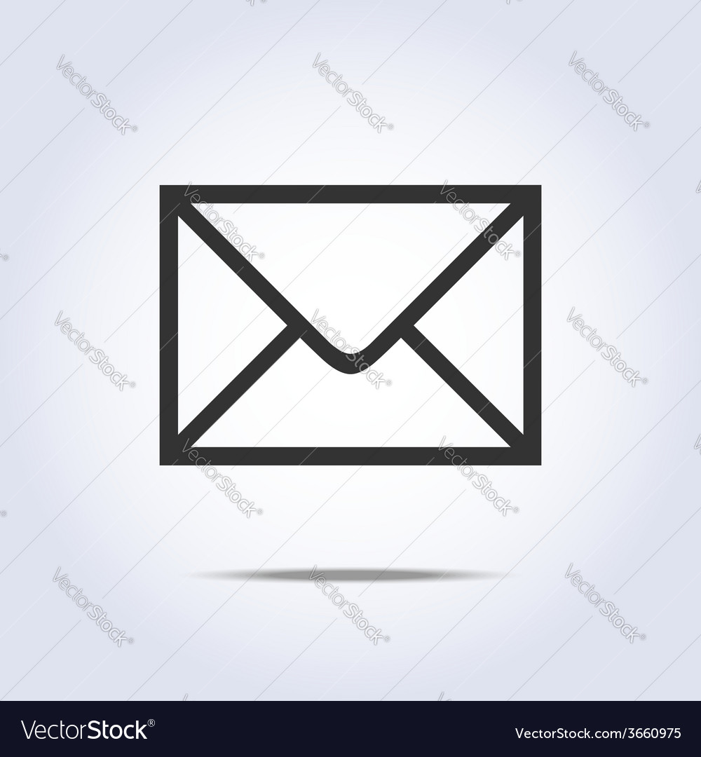 Envelope icon gray colors vector | Price: 1 Credit (USD $1)