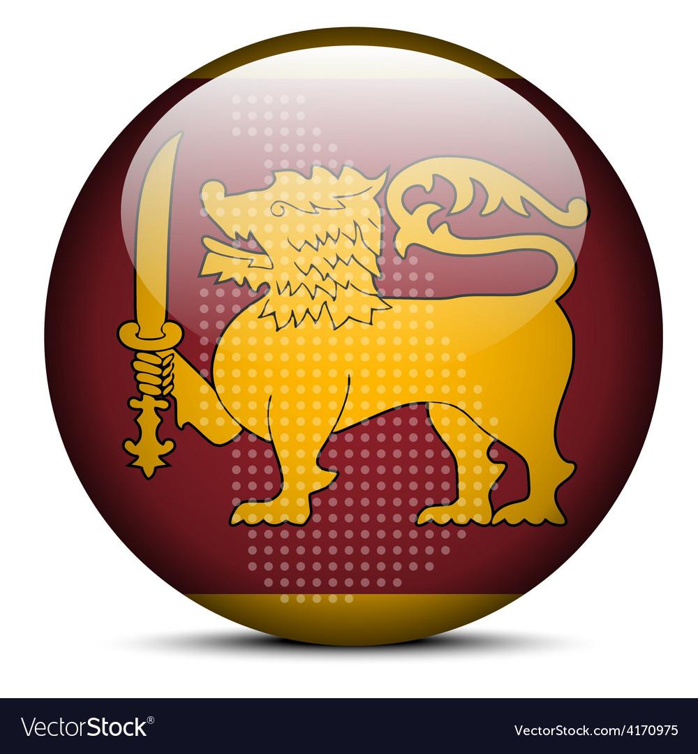 Flag button of democratic socialist republic of vector | Price: 1 Credit (USD $1)