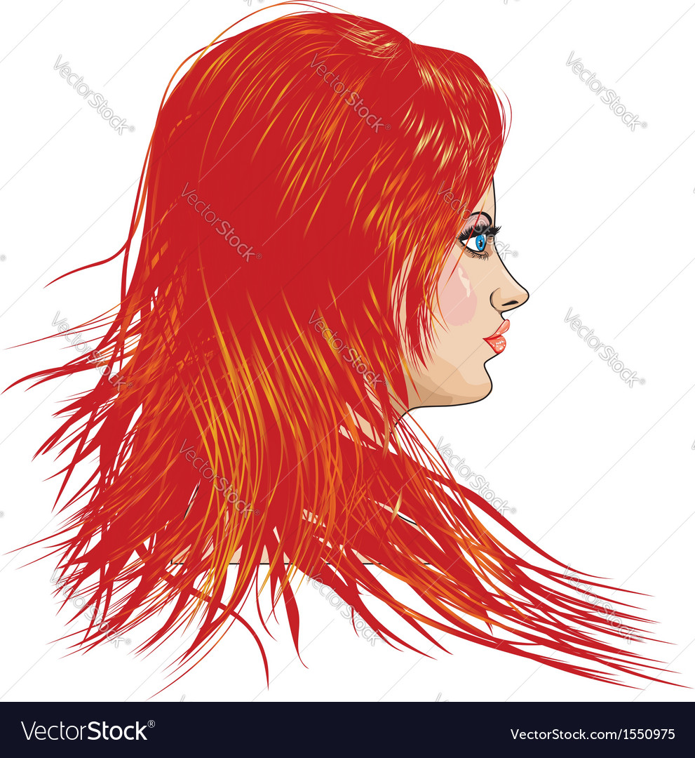 Girl with red hair vector | Price: 1 Credit (USD $1)