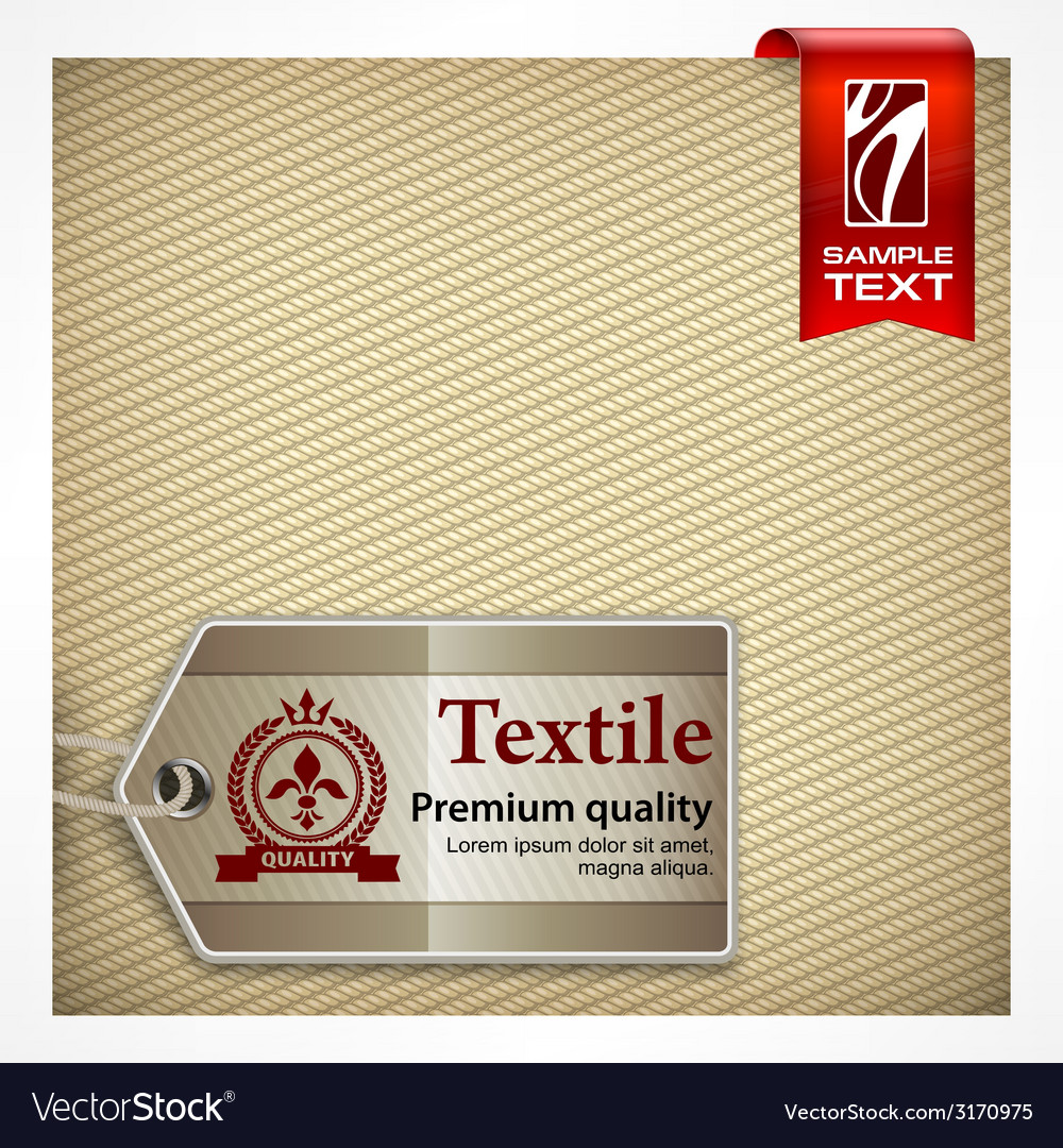 Label on textile vector | Price: 1 Credit (USD $1)