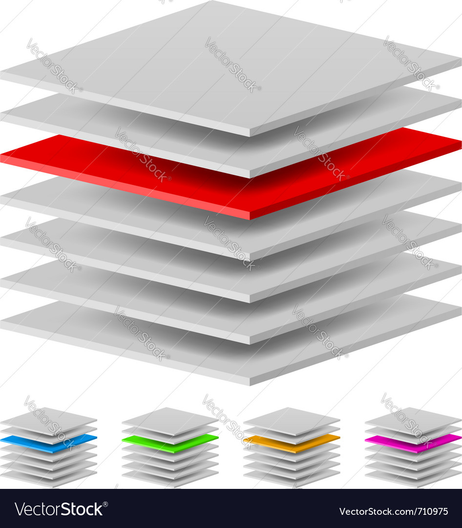 Multi layers vector | Price: 1 Credit (USD $1)