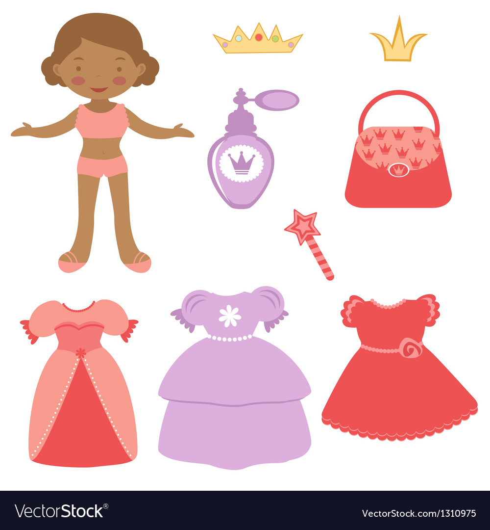 Princess paper doll vector | Price: 1 Credit (USD $1)