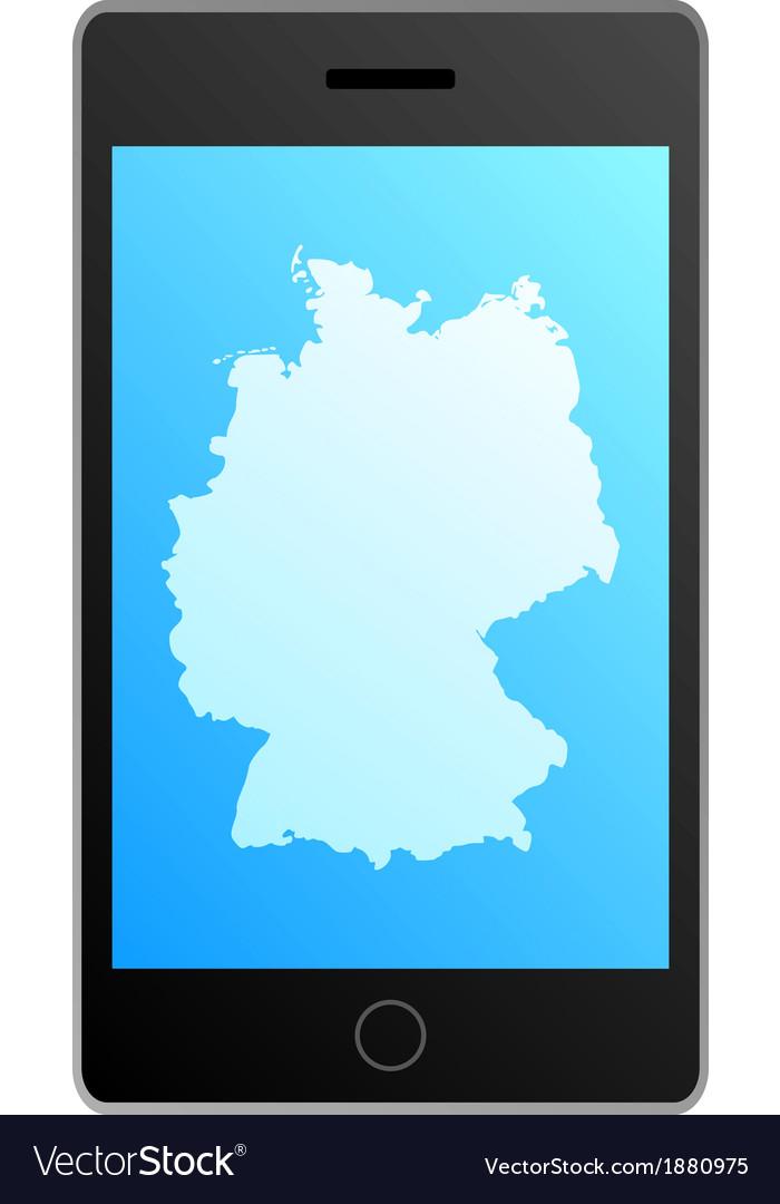Smartphone germany vector | Price: 1 Credit (USD $1)