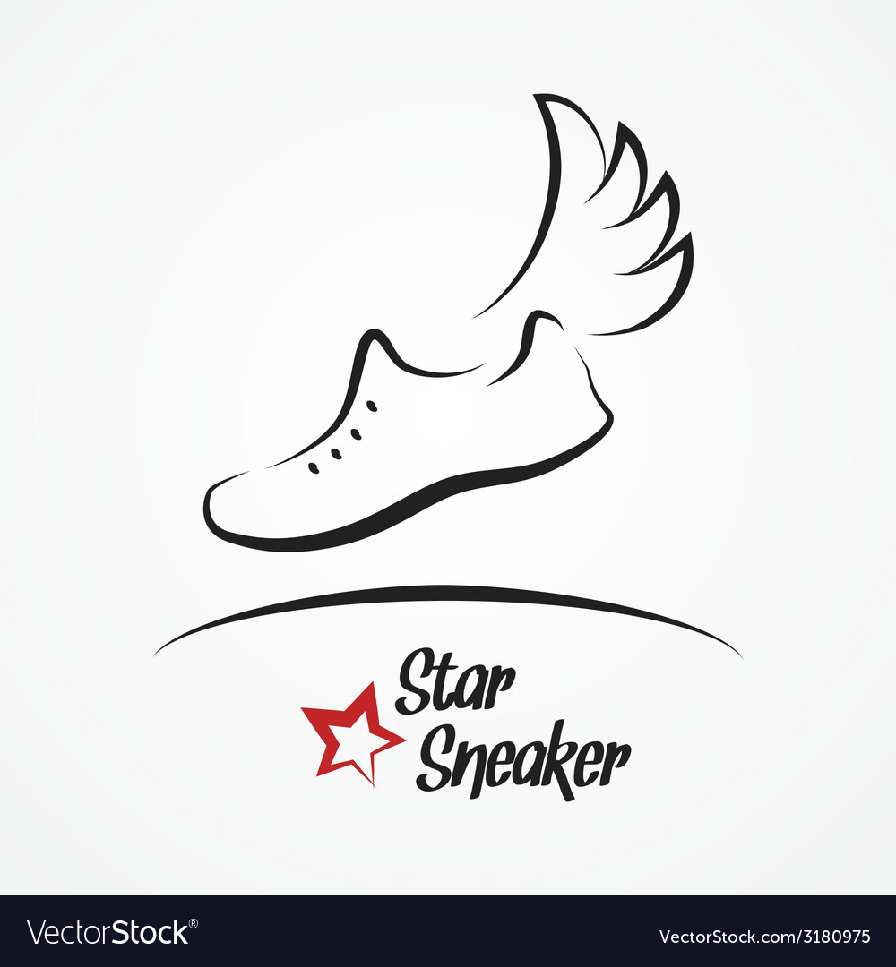 Star sneaker logo vector | Price: 1 Credit (USD $1)
