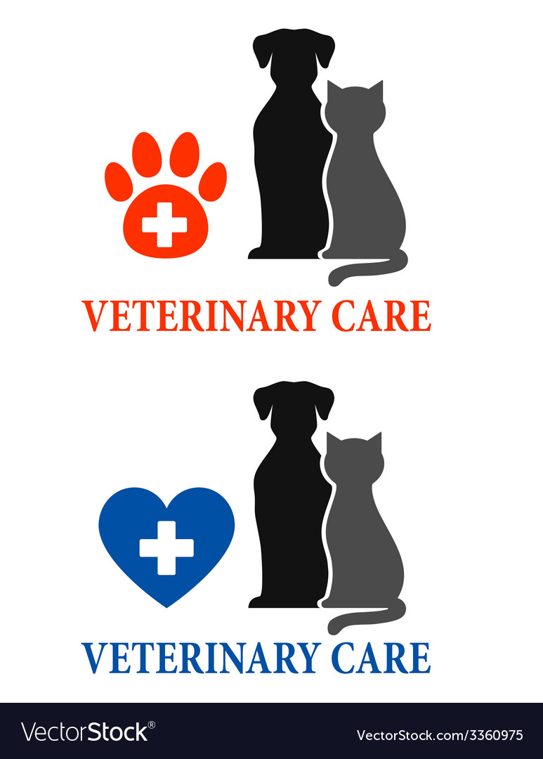 Two signs with pet silhouette vector | Price: 1 Credit (USD $1)