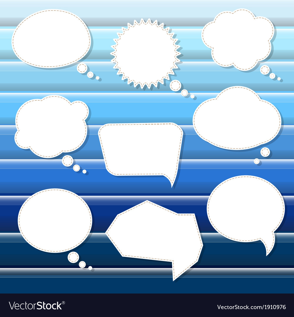 Abstract blue background with speech bubbles vector   Price: 1 Credit (USD $1)