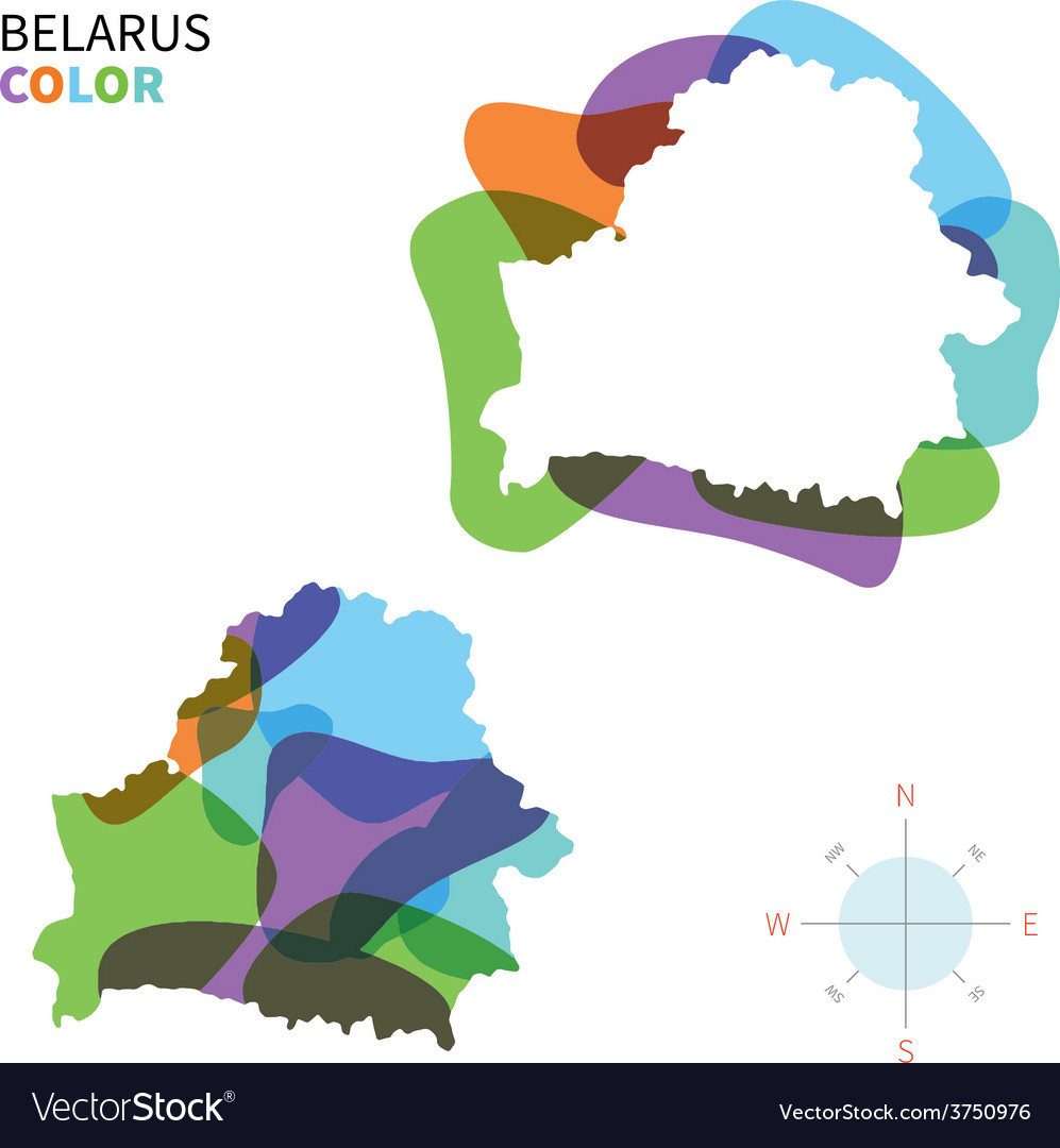 Abstract color map of belarus vector | Price: 1 Credit (USD $1)