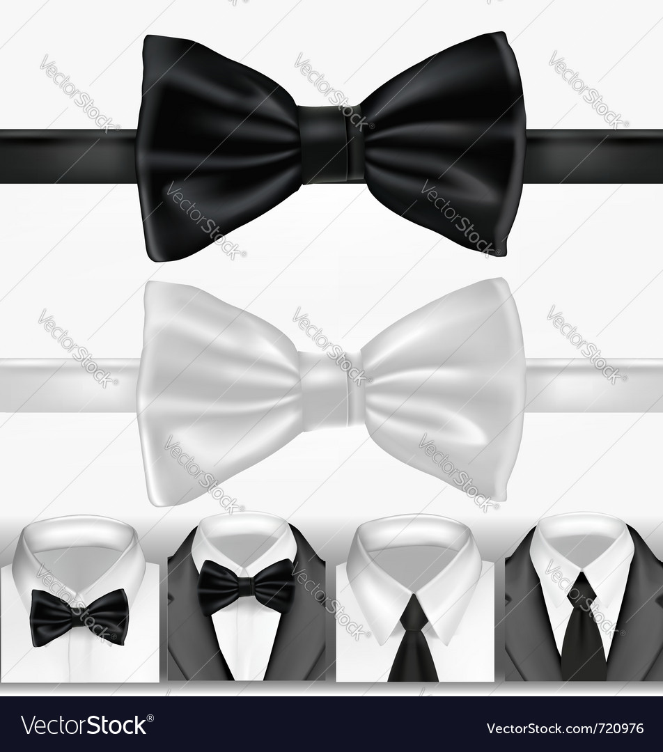 Black and white ties vector | Price: 3 Credit (USD $3)
