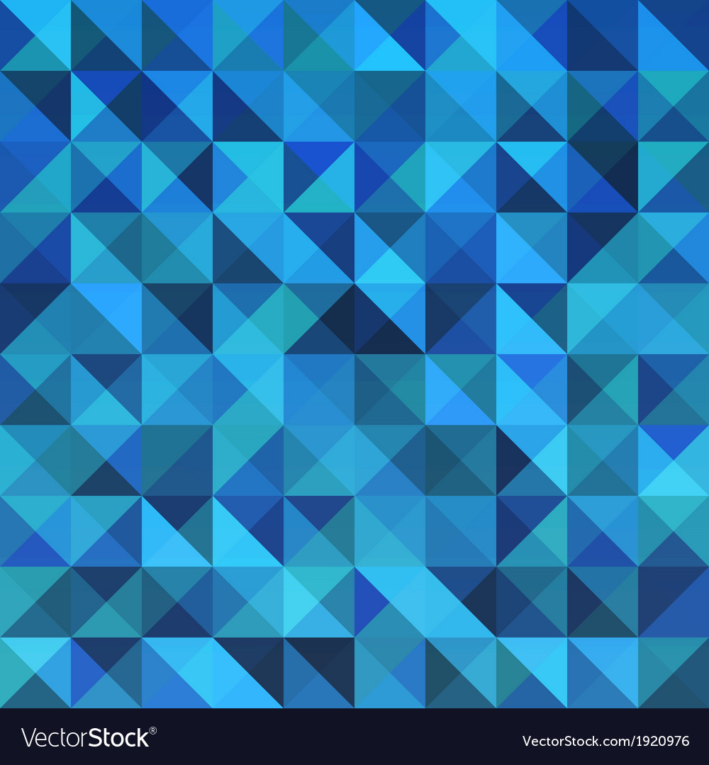 Blue seamless triangle abstract pattern vector | Price: 1 Credit (USD $1)