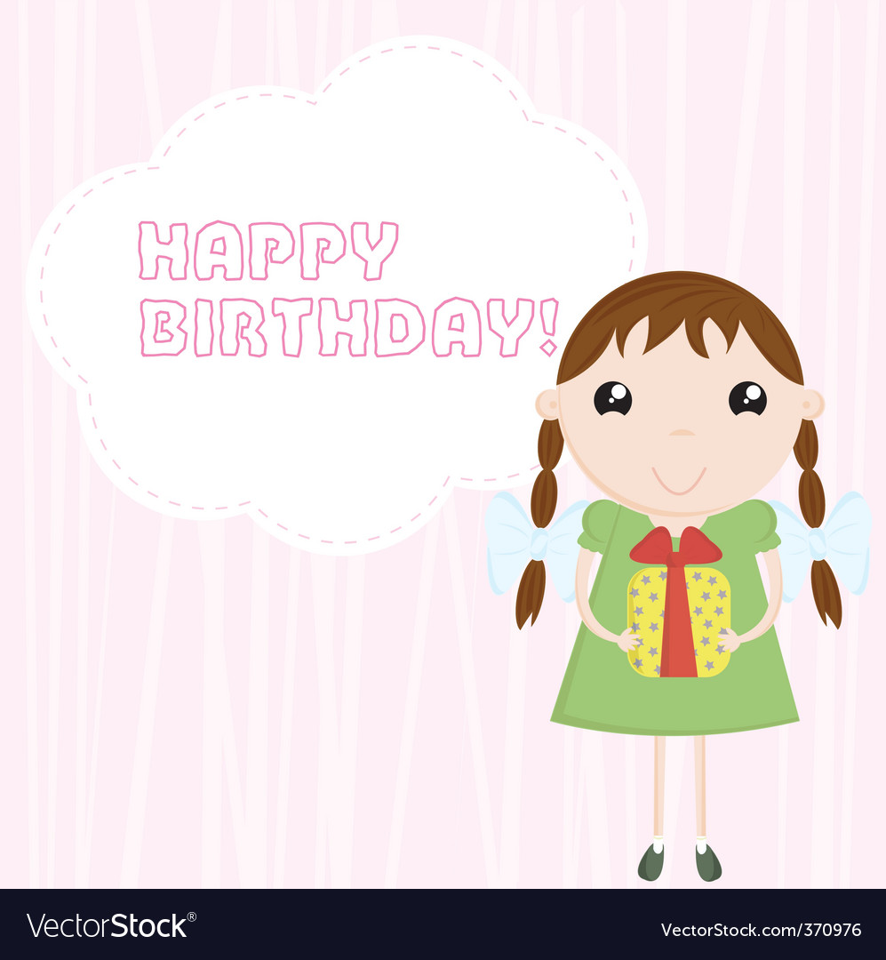 Congratulation happy birthday vector | Price: 1 Credit (USD $1)
