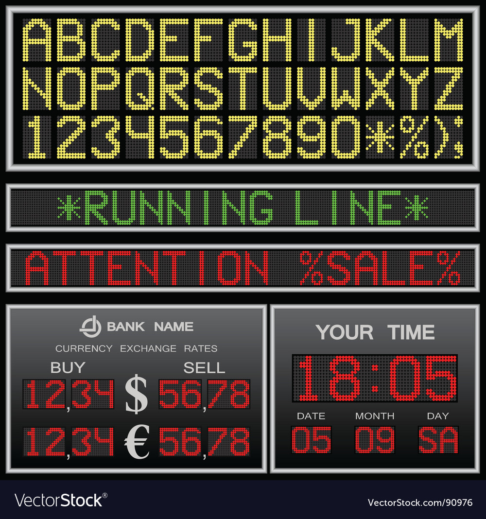 Electronic alphabet vector | Price: 1 Credit (USD $1)