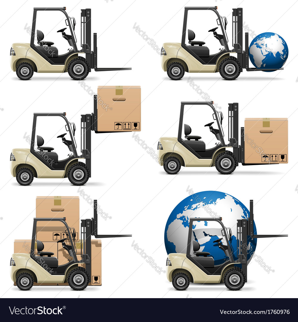 Forklifts vector | Price: 3 Credit (USD $3)
