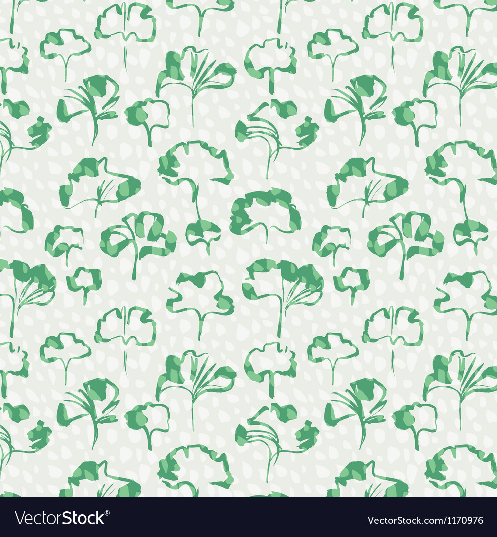 Ginkgo leaves seamless pattern vector | Price: 1 Credit (USD $1)