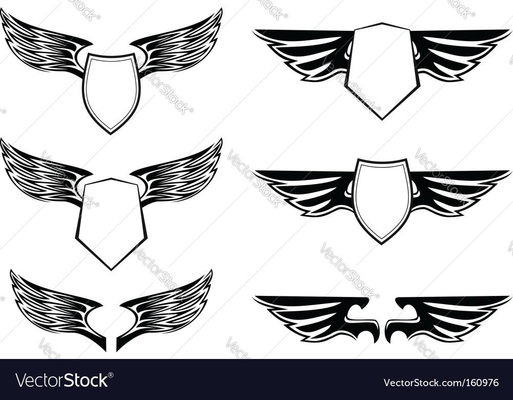 Heraldic design elements vector | Price: 1 Credit (USD $1)