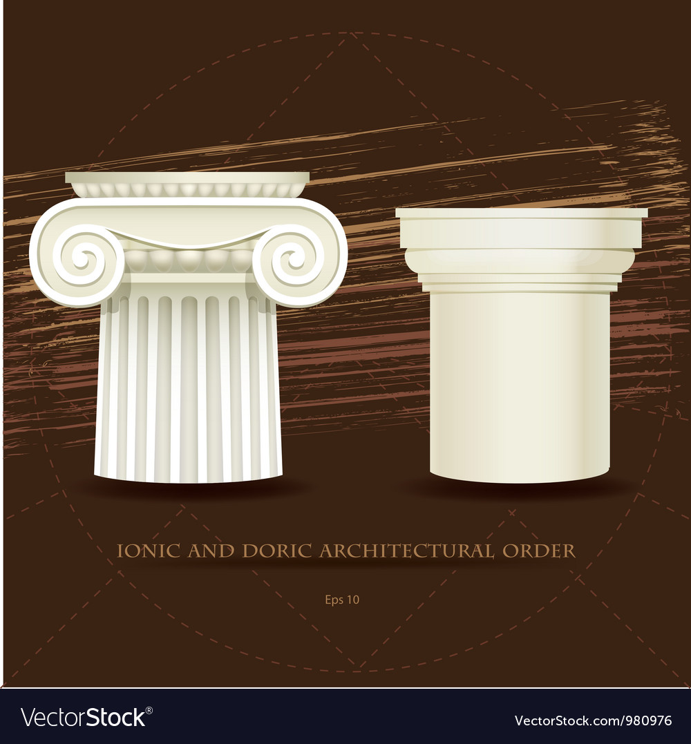 Ionic and doric architectural order vector | Price: 1 Credit (USD $1)