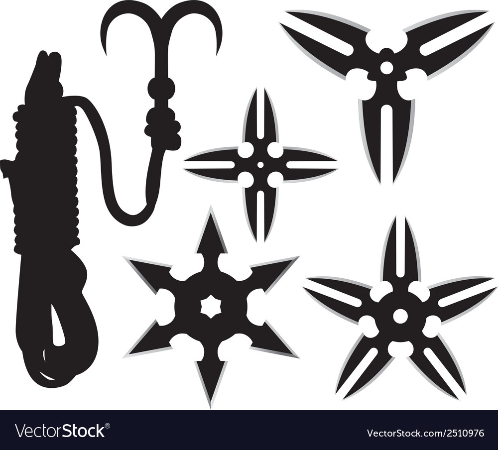 Ninja stars vector | Price: 1 Credit (USD $1)
