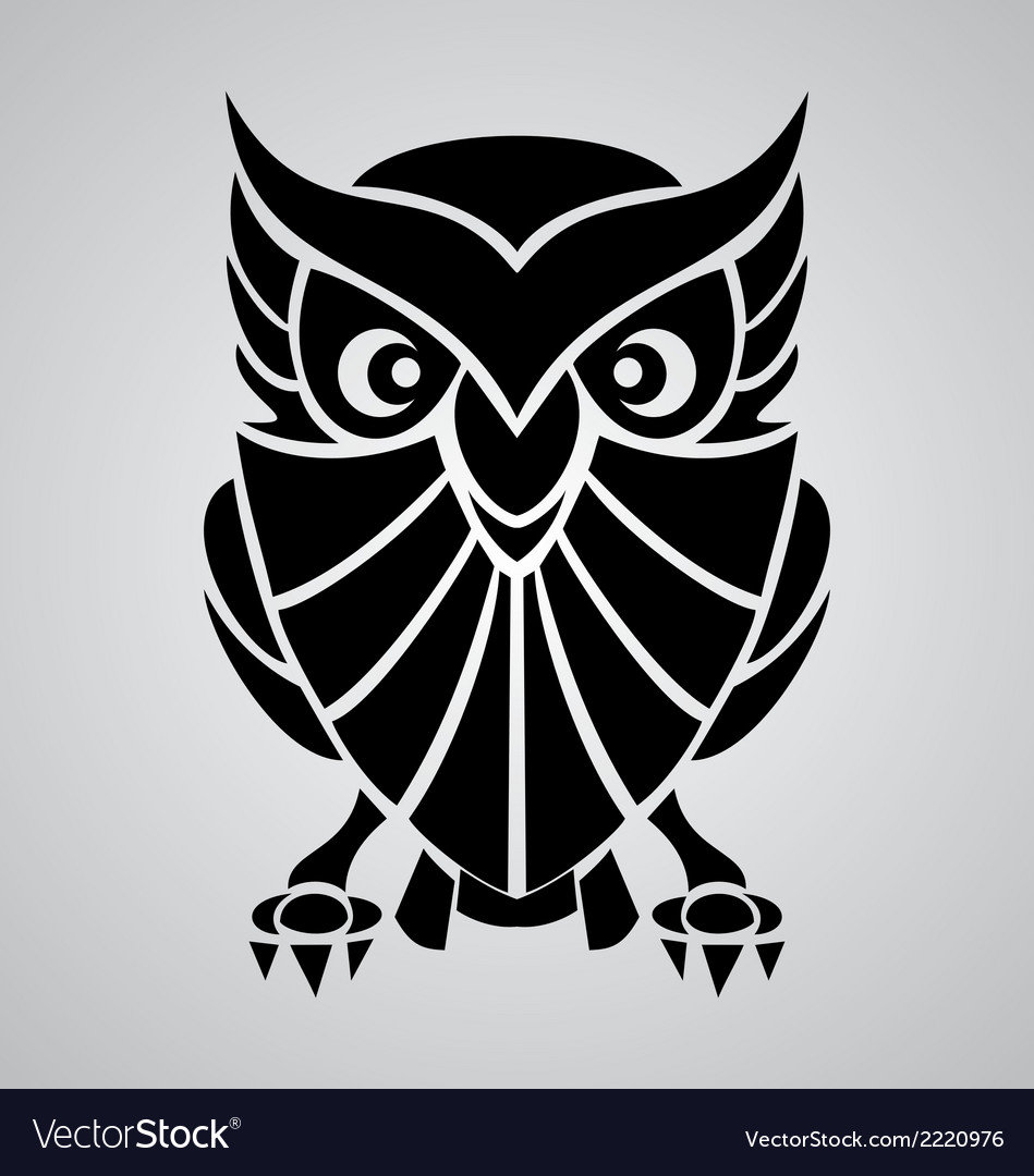 Owl tribal vector | Price: 1 Credit (USD $1)