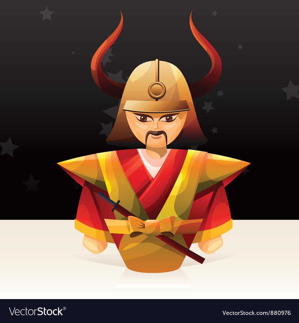 Samurai doll vector | Price: 3 Credit (USD $3)