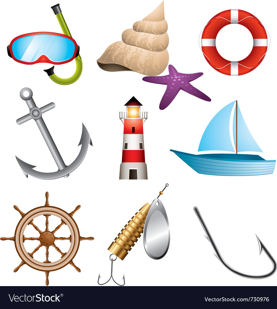 Sea related icons vector | Price: 5 Credit (USD $5)