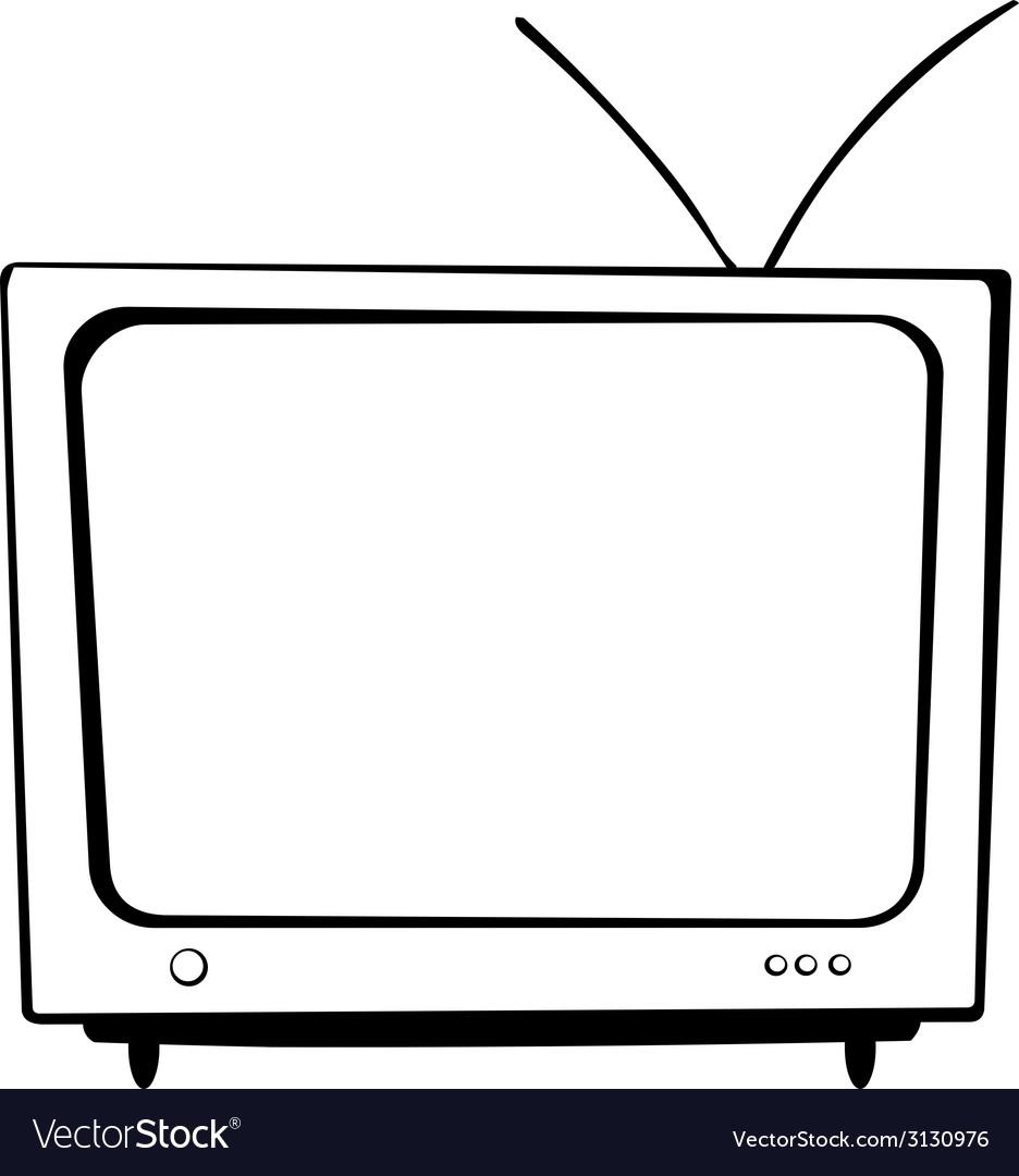 Tv bw vector | Price: 1 Credit (USD $1)