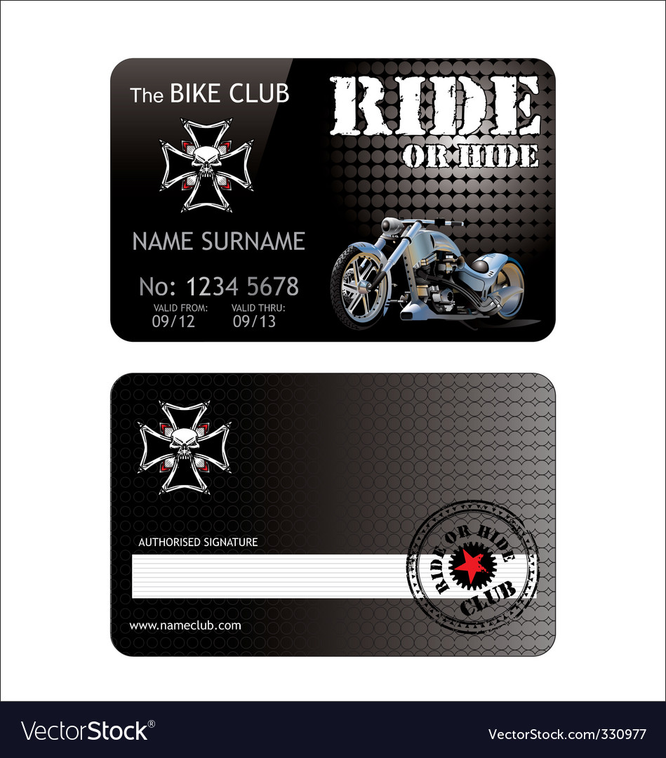Biker club card vector | Price: 1 Credit (USD $1)