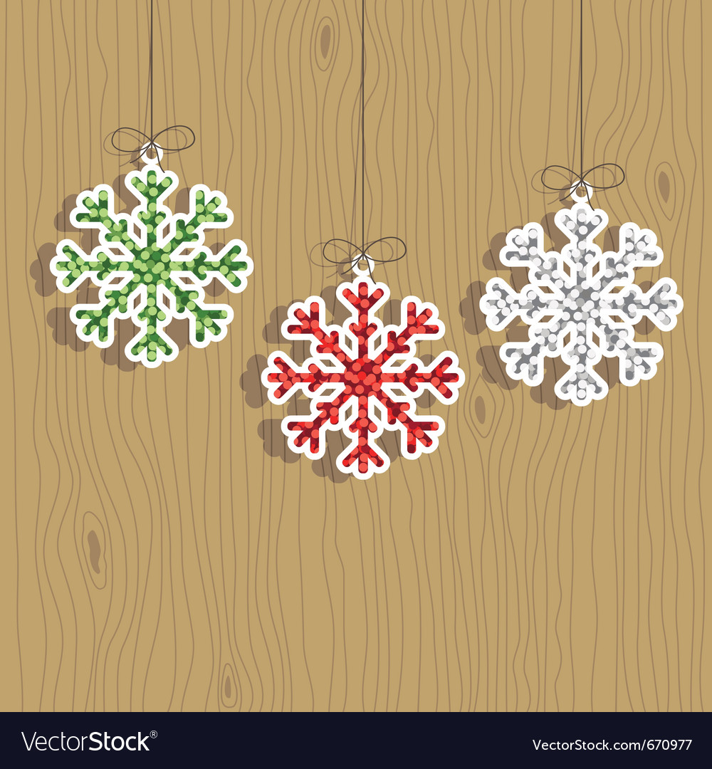 Christmas snowflake decorations vector | Price: 1 Credit (USD $1)