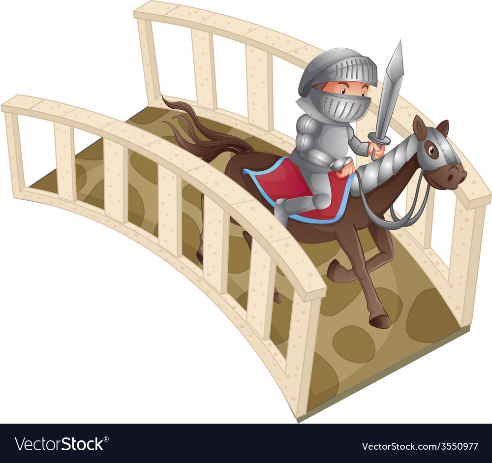 Knight and bridge vector | Price: 1 Credit (USD $1)