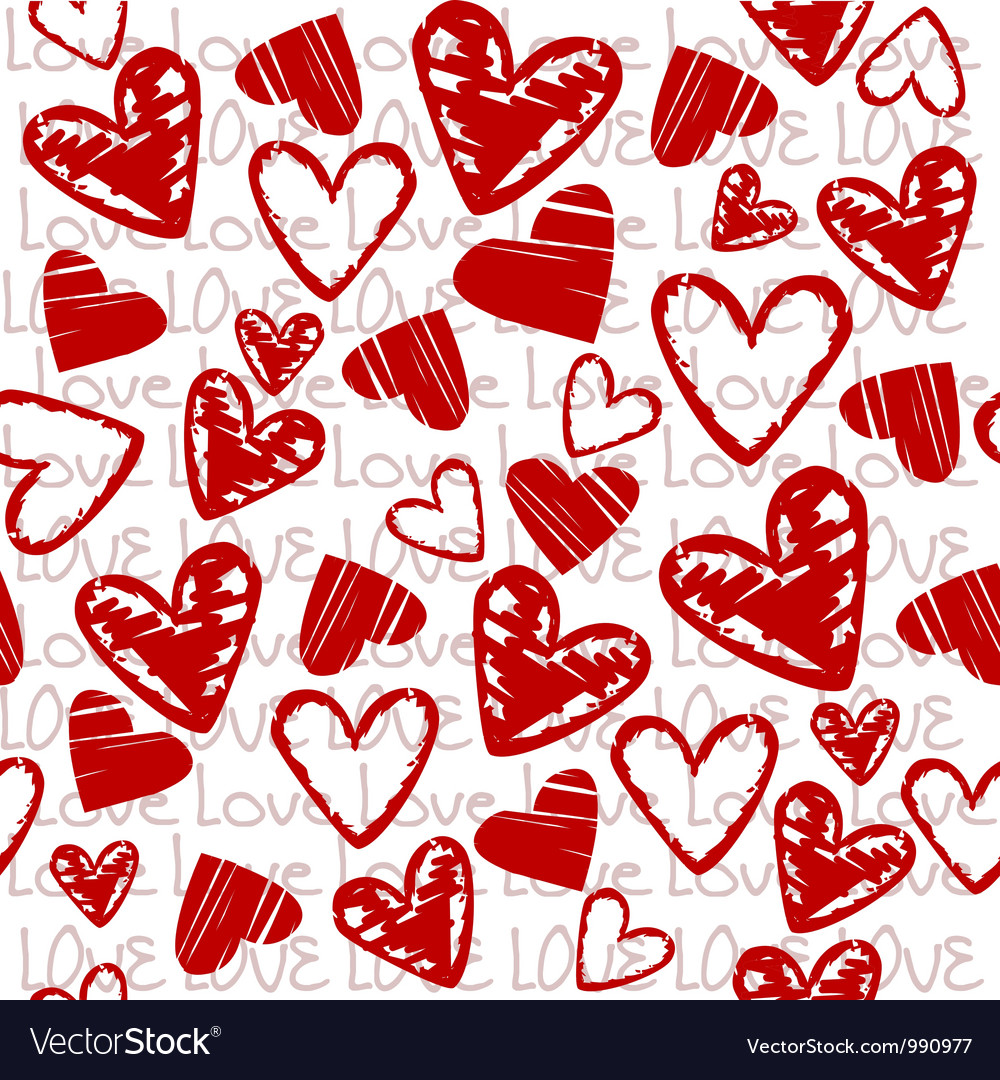 Love background with hearts vector | Price: 1 Credit (USD $1)