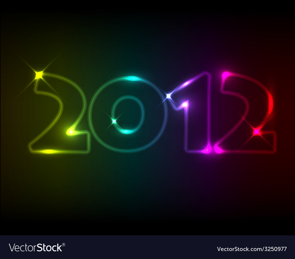 New year card 2012 vector   Price: 1 Credit (USD $1)