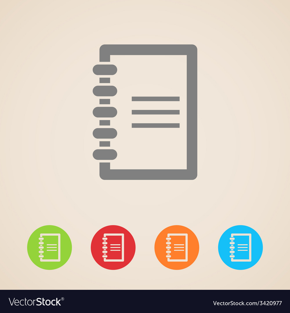 Notepad icons vector | Price: 1 Credit (USD $1)